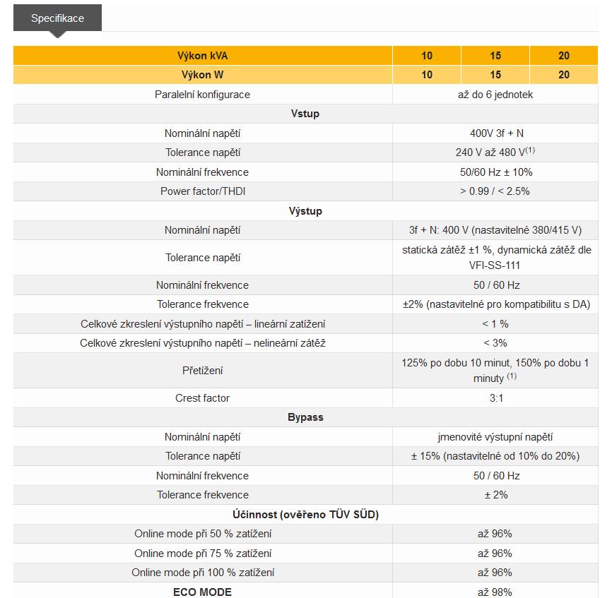 Informace Masterys GP - UPS Socomec