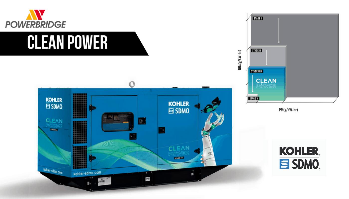 Motorgenerátor CLEAN POWER přispívá k snížení dopadu činnosti záložních zdrojů na životní prostředí.