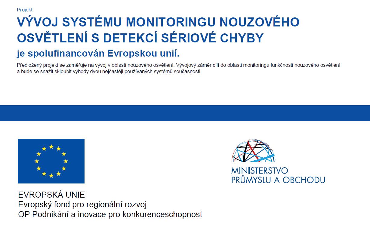 Monitoring nouzovehzo osvetleni - dotace